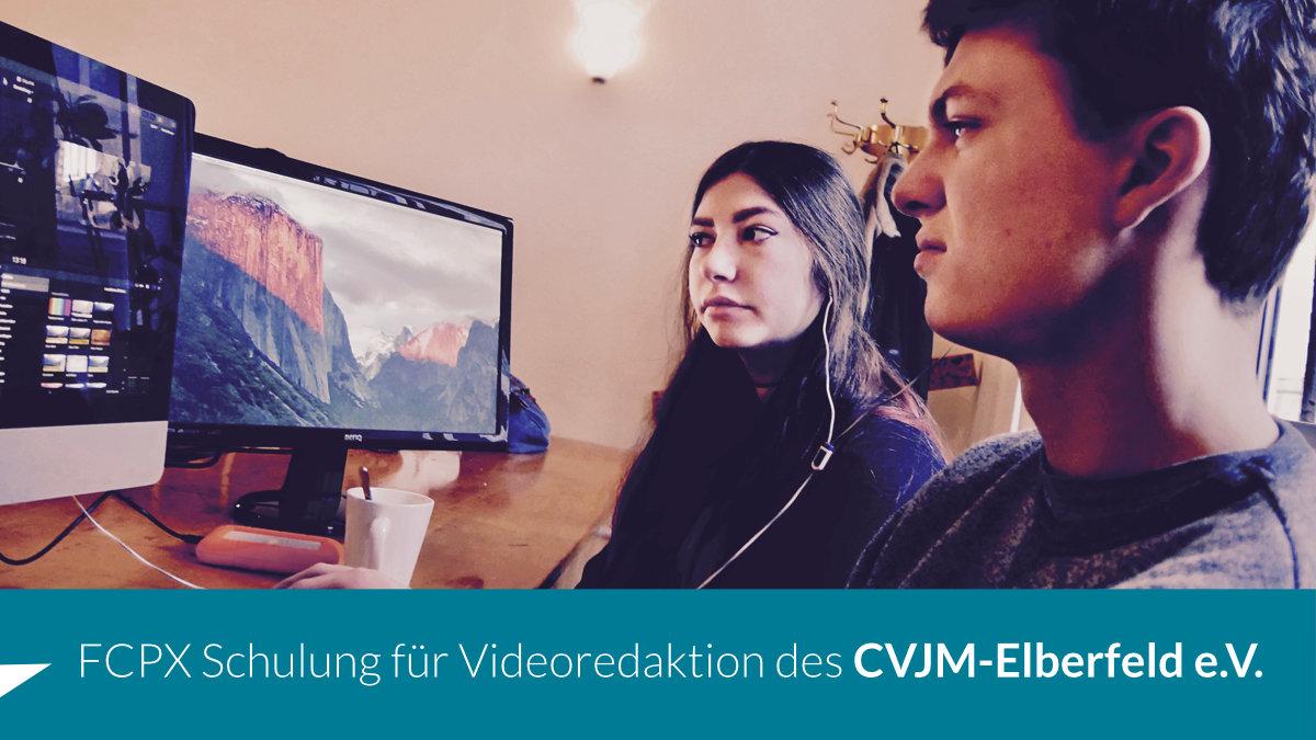 Videoredaktion mit Final Cut Pro X beim CVJM Elberfeld