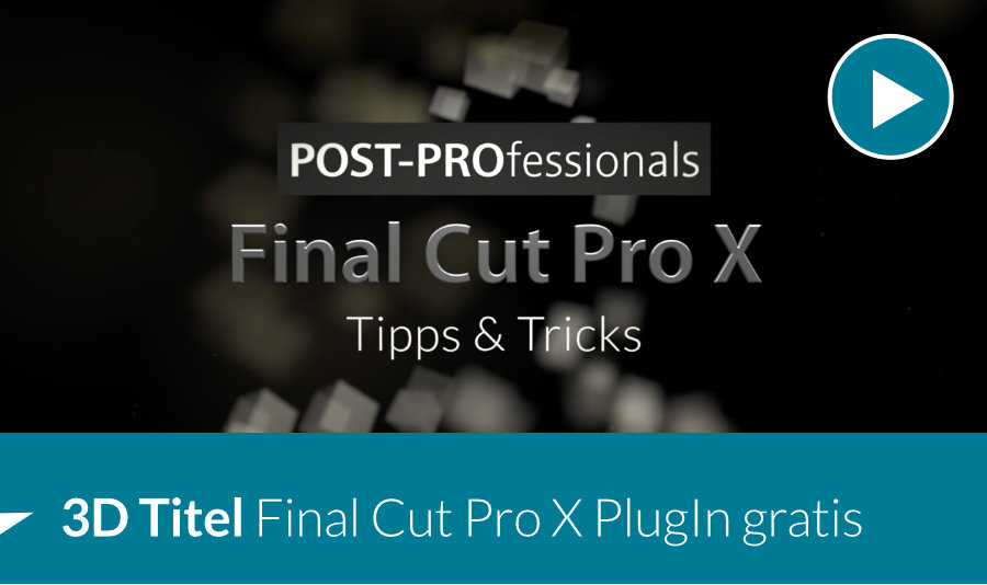 Final Cut Pro X PlugIn gratis 3D