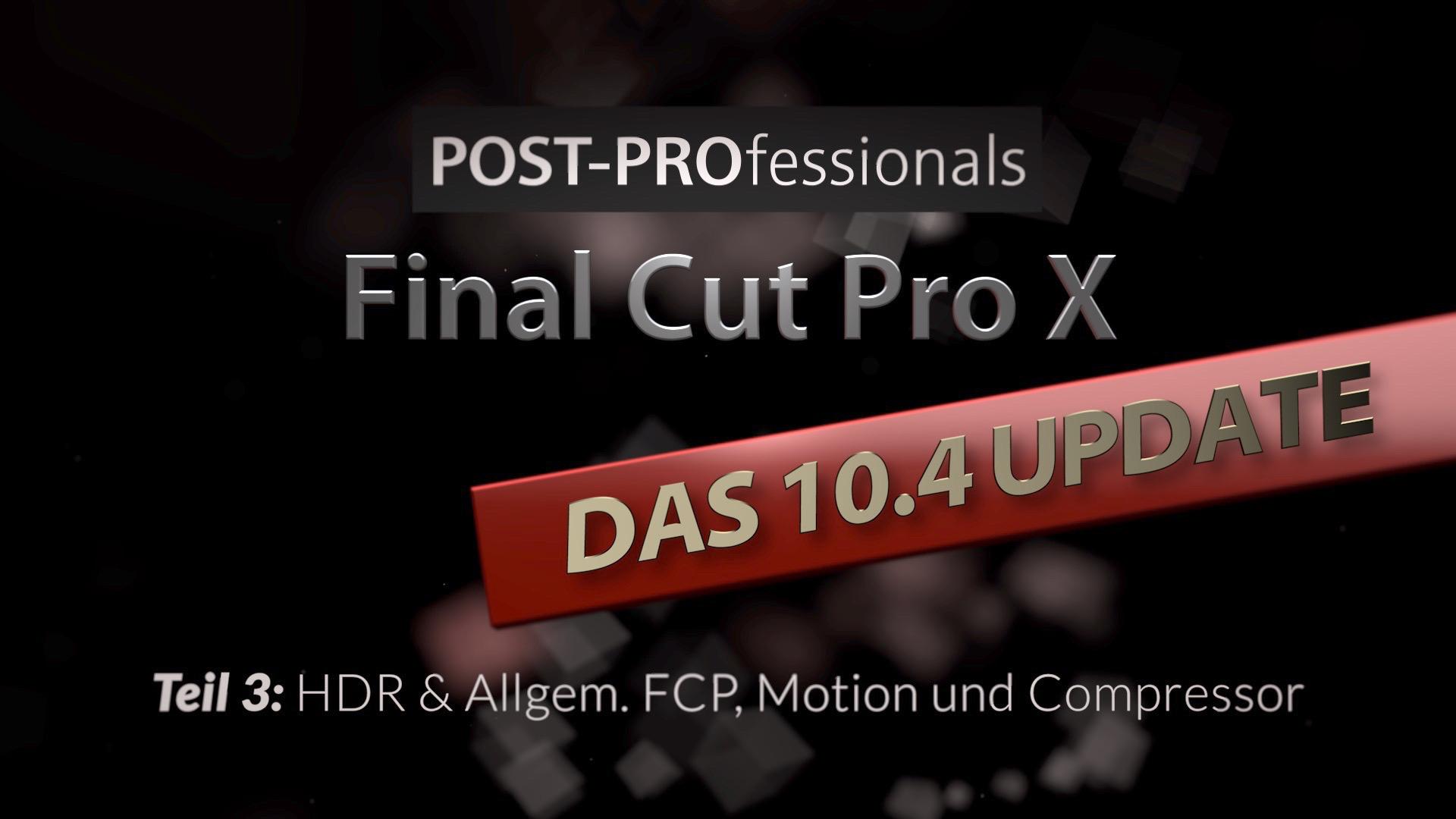 Umfassendes, Deutsches Final Cut Pro X Videotraining & mehr!